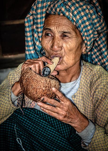 Face, Woman, Portrait, Myanmar, Burma, Old