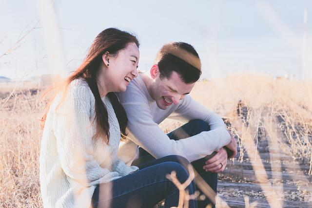 Couple, Happy, Laughing, Lovers, Man, People, Woman