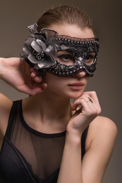 Fashion, Person, Woman, Young, Mask, Lovely, Portrait