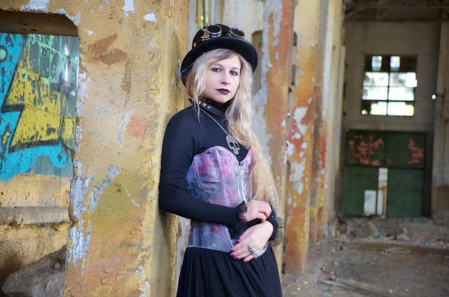 Portrait, People, Woman, One, Steampunk, Punk