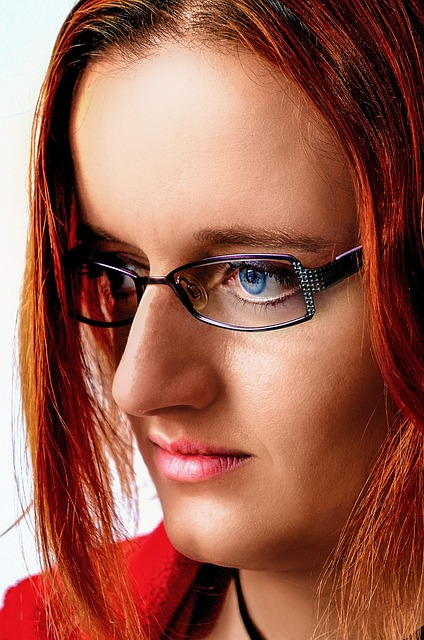 Woman, Glasses, Portrait, Red Hair, Red, Straight Hair