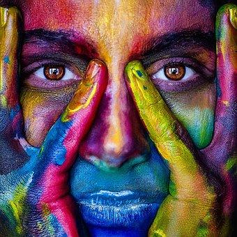 Girl, Mejk, Color, Rainbow, Model, Person, Woman, Lips