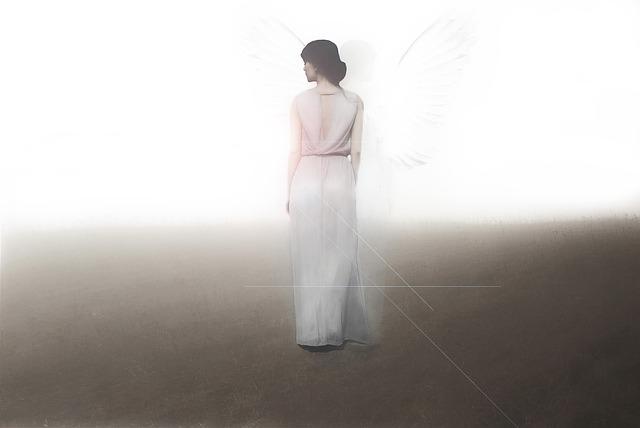 Angel, Woman, Light, Shine, Dress, Goddess