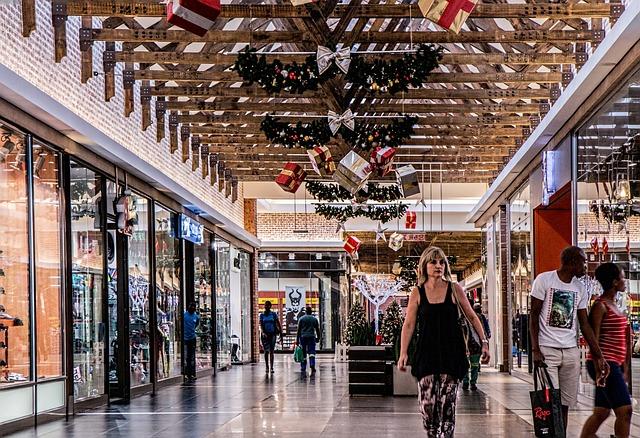 Shopping Mall, Woman, Shopping, Store, Retail, Center