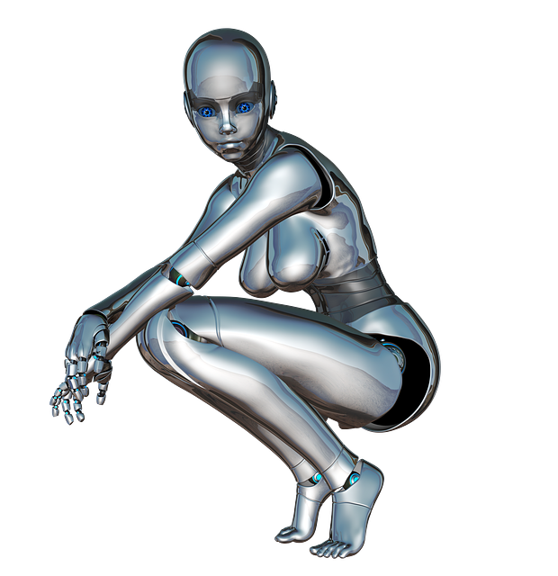 Girl, Woman, Face, Posing, Side, Robot, Cyborg, Android