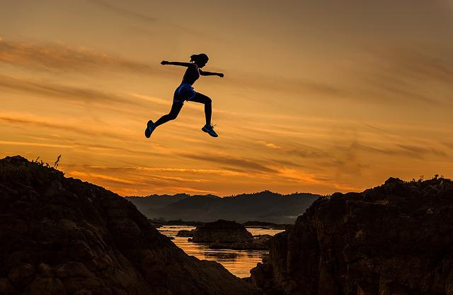 Achieve, Woman, Girl, Jumping, Running, Sports