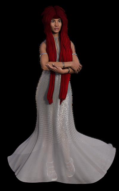 Woman, Dress, Long Hair, View, Young, Young Woman