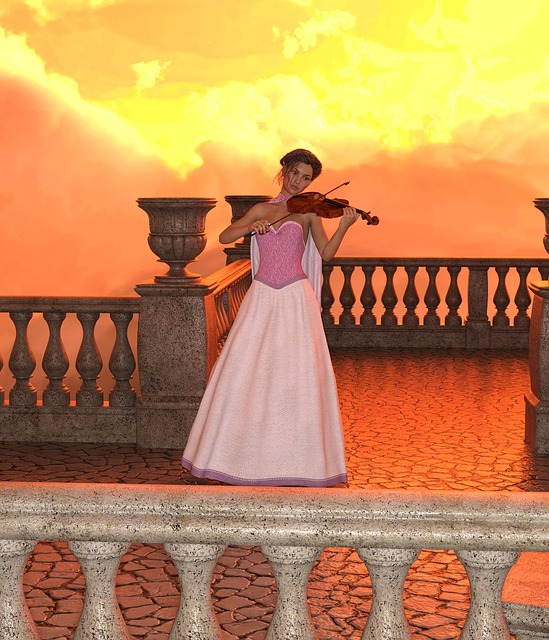 Woman, Violin, Play, Music, Stage, Tonkunst, Musician