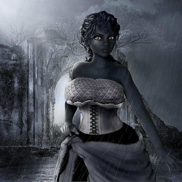 Night, Rain, Lady, Girl, Woman, Dark, Shadows, Weather