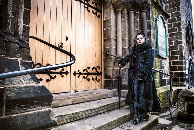Wgw, Whitby Goth Weekend, Festival, Gothic, Woman, Pose
