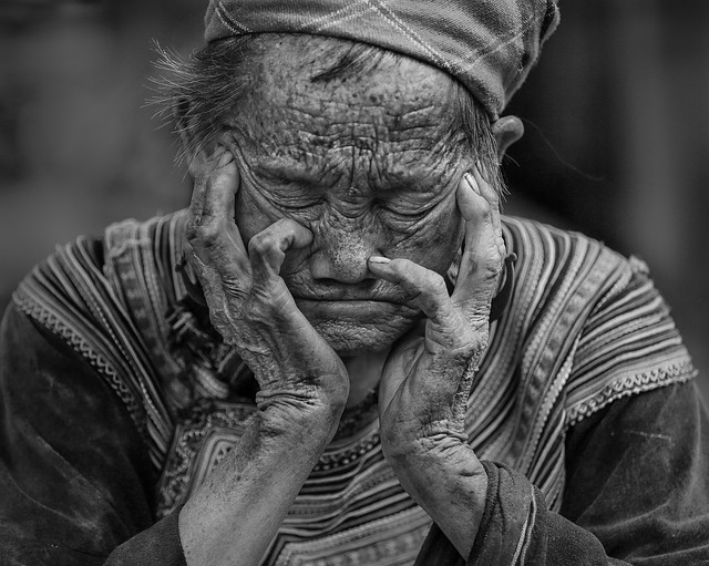 Woman, Elderly, Tired, Resting, Wrinkled, Wrinkles, Old