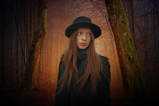 Gothic, Woman, People, Female, Young, Beauty, Model