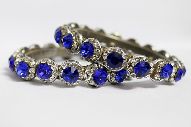 Bangles, Blue Bangles, Antique, Women's, Jewelry
