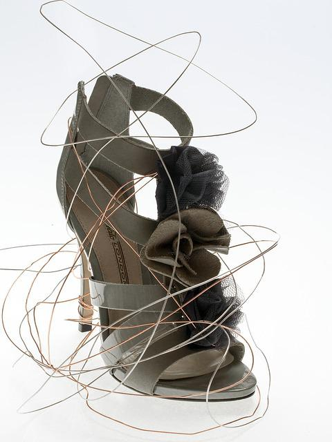 Shoe, Women's Shoes, High Heeled Shoe, Wire, Fashion