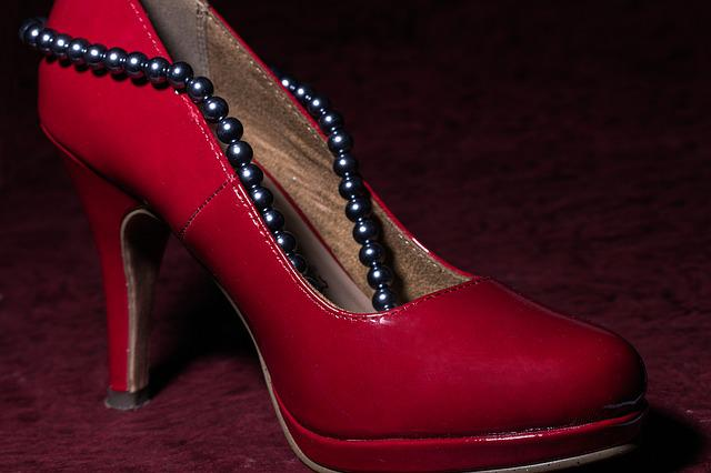 Shoe, Women's Shoes, Red, High Heeled Shoe