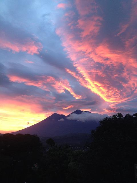 Antigua Guatemala, Guatemala, Sunset, Wonderful, Sky