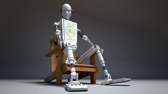 Sitting, Chair, Wood, Droid, Robot, 3d, Background