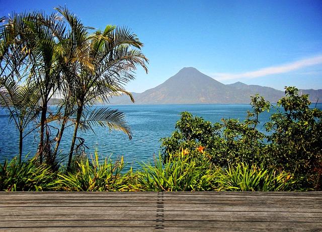 Atitlan, Guatemala, Logo, Water, Palms, Wood, View