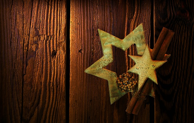 Texture, Background, Christmas, Wood, Star