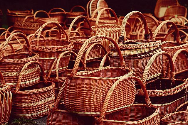 Basket, Graze, Background, Wood, Pattern, Traditionally