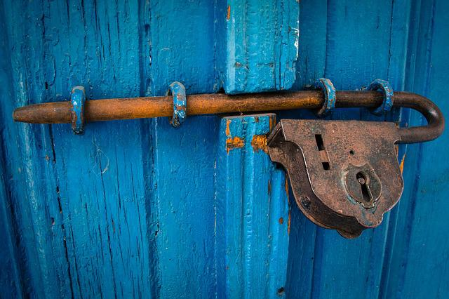 Door, Blue, Rusty, Entrance, Wood, Old, Wooden, Metal