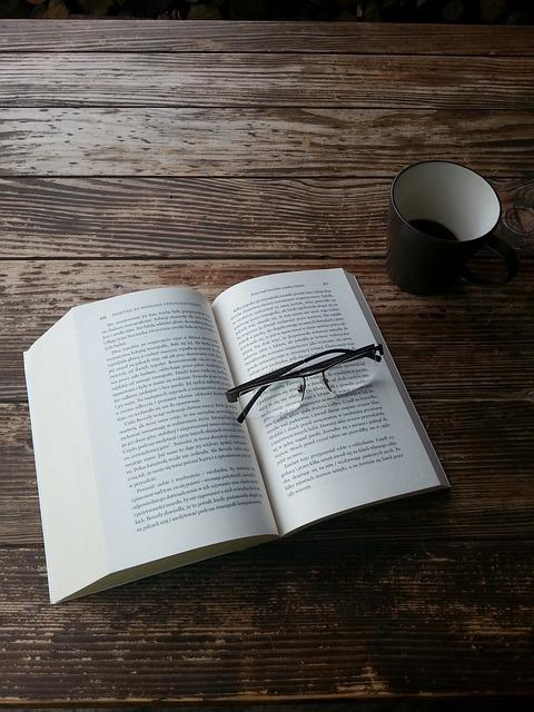Book, Glasses, Reading, Wood, Table, Coffee, Morning
