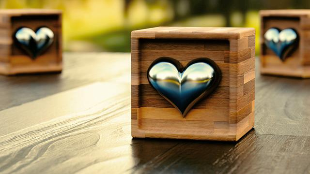 Love, Vintage, Wood, Heart, Box, Decoration, Table