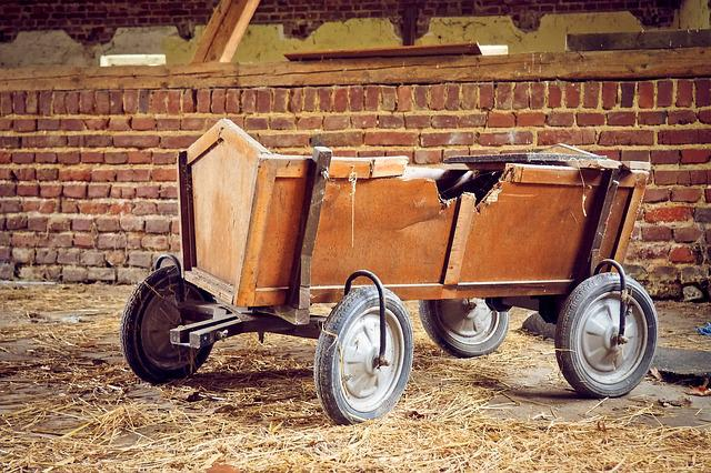 Barn, Stroller, Wood Car, Lost Places, Pforphoto, Leave