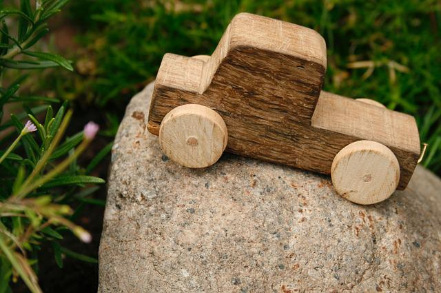 Wooden Car, Toys, Wood, Children Toys, Auto, Wheels