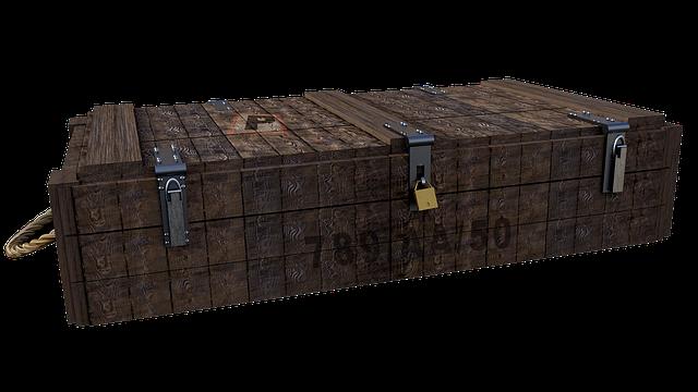 Box, Wood, Ammo Box, Isolated, Fantasy, Digital Art