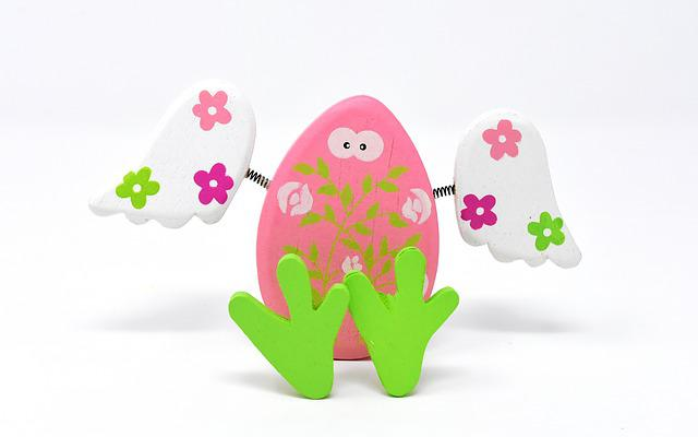 Easter Egg, Wood, Wing, Guardian Angel, Feet, Hen