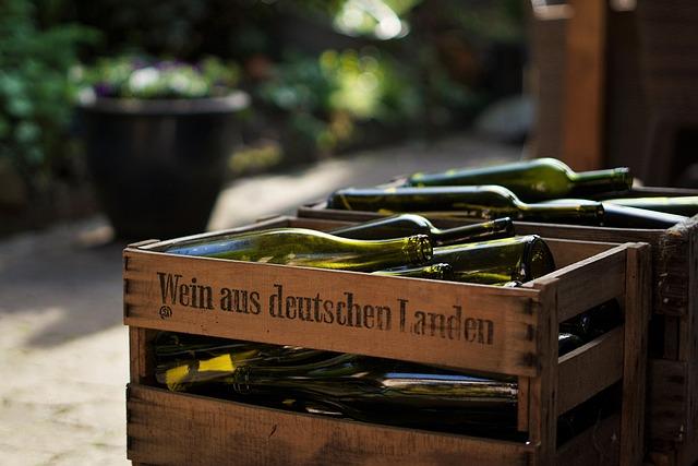 Wood, Wine Box, Wine, Wine Bottles, Empty, German