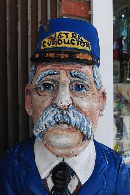 Wood Faces, Train Conductor, Virginia City