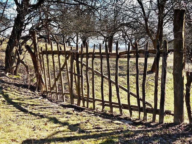 Gateway, The Fence, Wood, Fencing, Rails, Spring