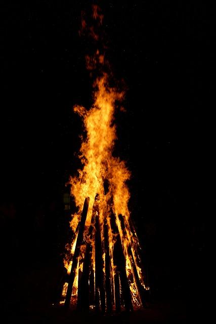Fire, Flame, Wood, Burn, Wood Fire, Brand, Night