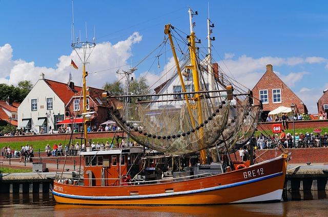 North Sea, Fishing Boat, Wood, Port, Romantic