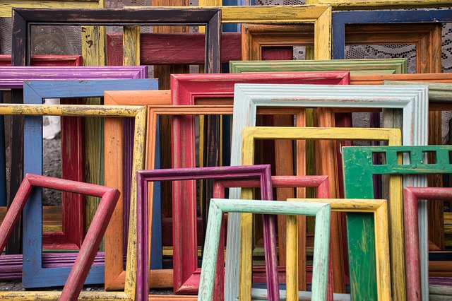 Colorful, Colourful, Frames, Wood