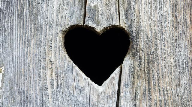Pane, Old, Wood, Detail, Heart, Contrast