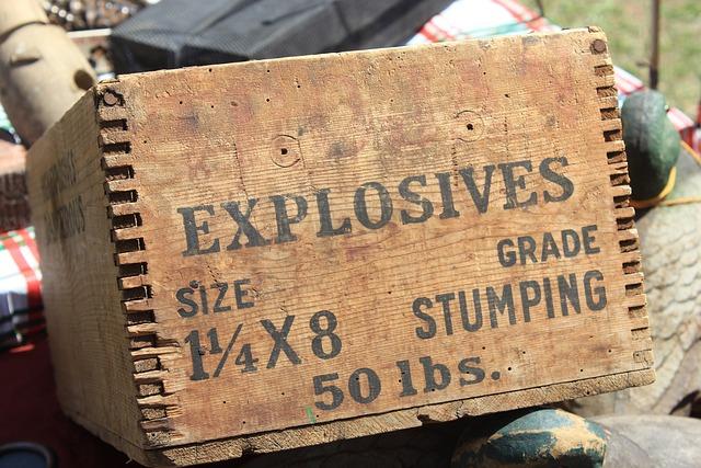 Box, Explosives, Dynamite, Antique, Wood Joints