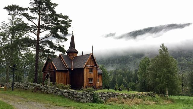 Tree, Wood, House, Nature, Architecture, Viking Church