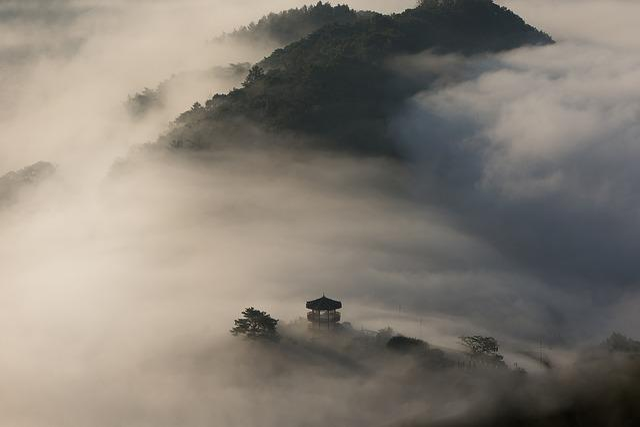 Climbing, Wood, Palgakjeong, Cloud, Mountain, Wind