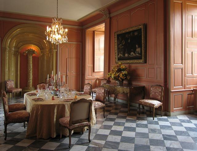 France, Villandry Castle, Inside, Interior, Wood Panel