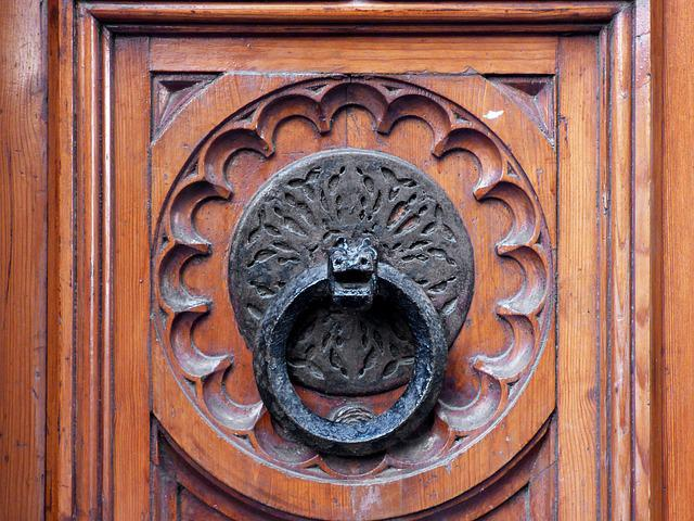 Passepartout, Crafts, Dragon, Bronze, Wood, Old, Portal