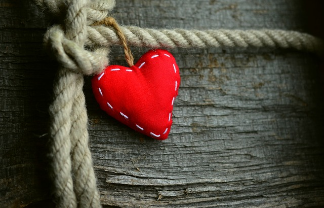 Heart, Red, Rope, Loyalty, Love, Friendship, Wood