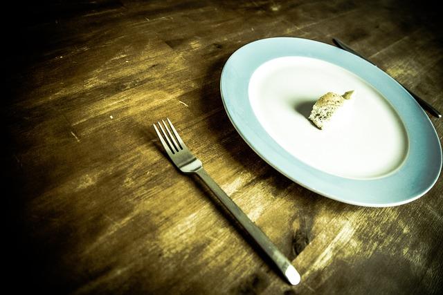 Bread, Plate, Fork, Table, Wood, Solid Wood, Vintage