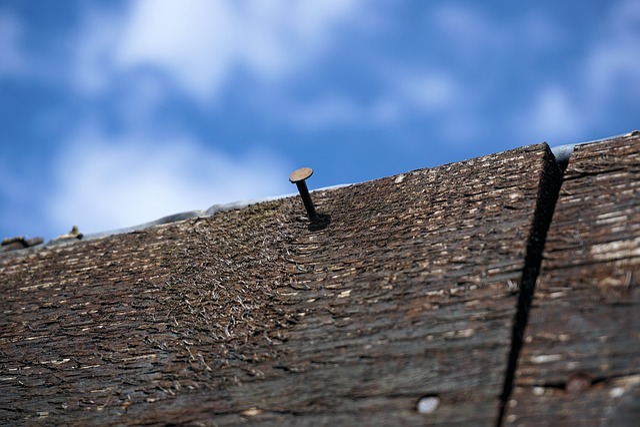 Nail, Board, Wood, Old, Weathered, Hits