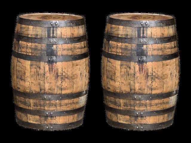 Whiskey Barrels, Barrels, Whisky, Wooden Barrels, Wood