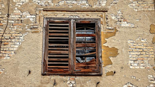 Old, Wall, House, Architecture, Wood, Window, Shutter
