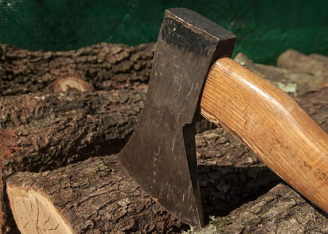 Wood, Axe, Heating, Woodcutter, Tool
