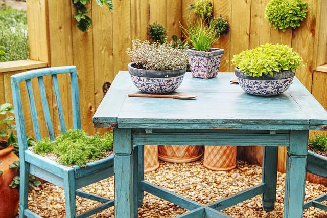Table, Chair, Garden, Seat, Wood, Furniture, Yard
